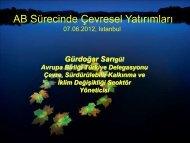 AB Sürecinde Çevresel Yatırımları - REC Türkiye