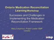 Successes and Challenges in Implementing the Medication ...