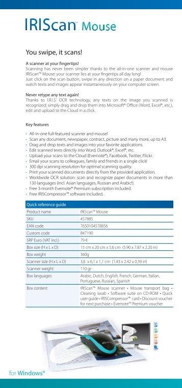 IRISNotes™ 1 : ID card : English - InfoShare Solutions