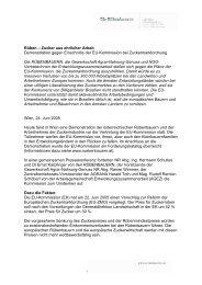 Proteste gegen EU-Zuckermarktordnung - OneWorld