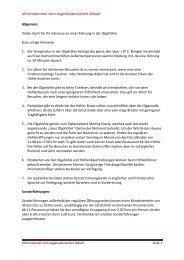 Informationen zum organisatorischen Ablauf - olgahoehle.de