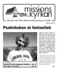 Psalmboken är fantastisk - Missionskyrkan Tibro