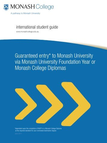 Monash College International Student Guide - Study in the UK