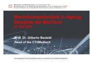 Wachstumspotentiale in Ageing: Beispiele der MedTech