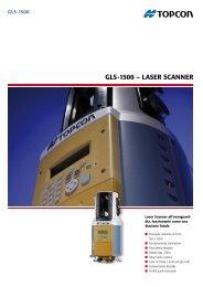 GLS-1500 – LaSer Scanner - Topcon Positioning