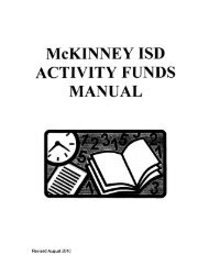 Activity Funds Manual - McKinney Independent School District