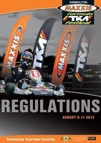 2013 TKM Festival Regulations - Hunts Kart Racing Club