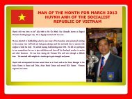 MAN OF THE MONTH FOR MARCH 2013 HUYNH ANH OF ... - ABBF