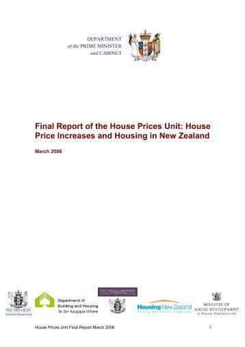 Final Report of the House Prices Unit: House Price Increases and ...