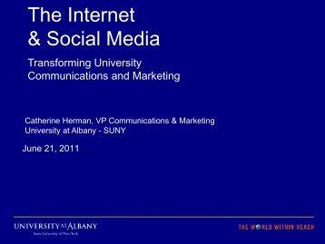 The Internet & Social Media: Transforming University ...