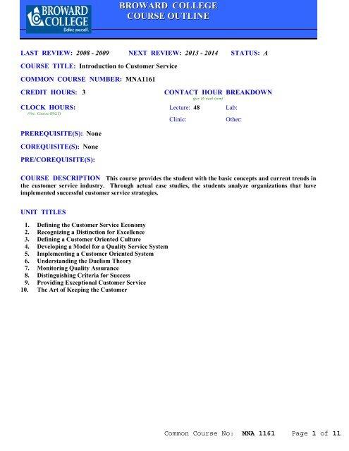 MNA1161 pdf - Broward College