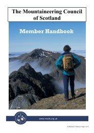 Member Handbook - The Mountaineering Council of Scotland