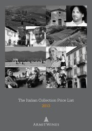 Italian Price List.indd - Armit Wines