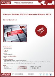 Eastern Europe B2C E-Commerce Report 2012 - yStats.com