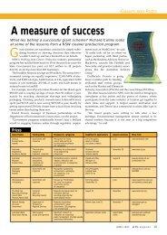 A measure of success - WME magazine