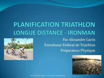 PLANIFICATION TRIATHLON LONGUE DISTANCE