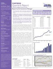 Quarterly Report - Fortress Mutual Fund Ltd
