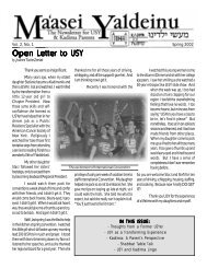 Spring 2002 - United Synagogue Youth
