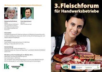 Einladung Fleischforum 2013 - 2012 by www.lk-stmk.at
