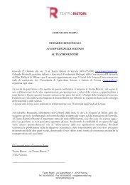 EDOARDO BONCINELLI: Il ruolo della Scienza - Teatro Ristori