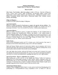 Mosinee School District Regular Board of Education Meeting Minutes