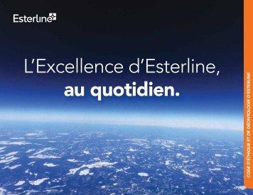 Code d'éthique et de déontologie - Esterline