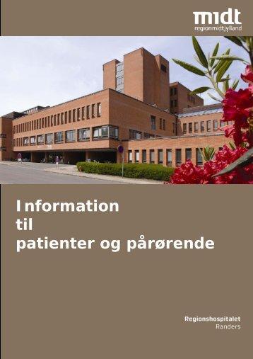 patient og pårørende - Regionshospitalet Randers