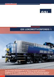 GSI LOKOMOTIVENFONDS 1 - L und B Fonds Consulting Hamburg