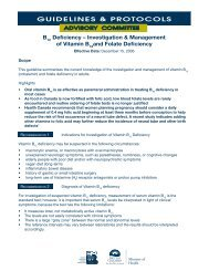 Investigation and management of vitamin b12 and folate.