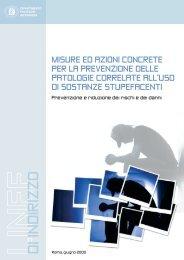 Misure concrete per la prevenzione delle patologie ... - FeDerSerd