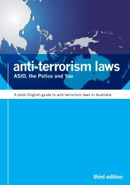 anti-terrorism laws third edition ASIO, the Police and You - AMCRAN