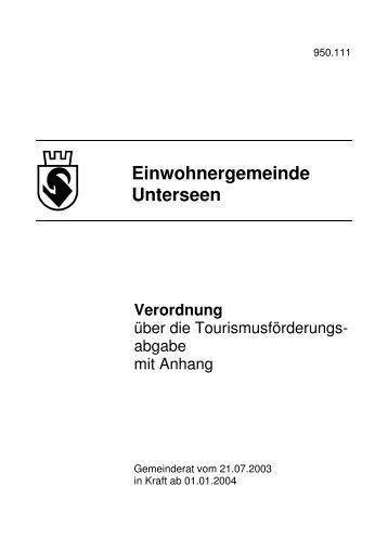 TFA Verordnung Unterseen - Druckvorlage - Titelblatt