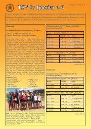 Newsletter 11/2010, Nr.8 vom 08.11.2010 - TSV 07 Iphofen eV