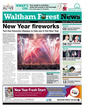 Issue 83: New Year fireworks - Waltham Forest Council