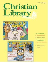 a review - Christian Library Journal