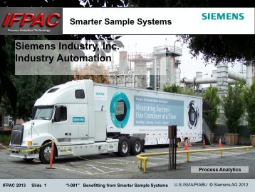 Benefiting from Smarter Sample Conditioning System - CPAC