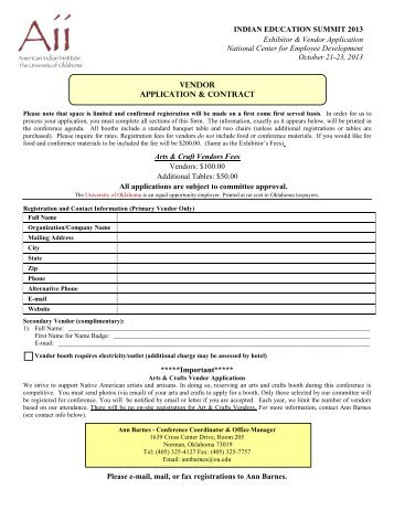 Exhibitor/Food Vendor Registration Form - Lake County