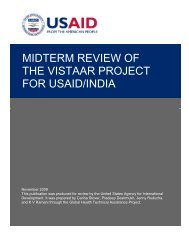 midterm review of the vistaar project for usaid/india - GH Tech