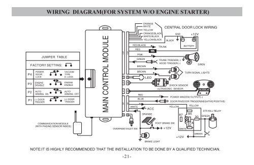 For Car Alarm Wiring Diagram - Wiring Diagram