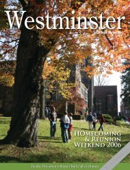 HOmecoming & Reunion Weekend 2006 - Westminster College