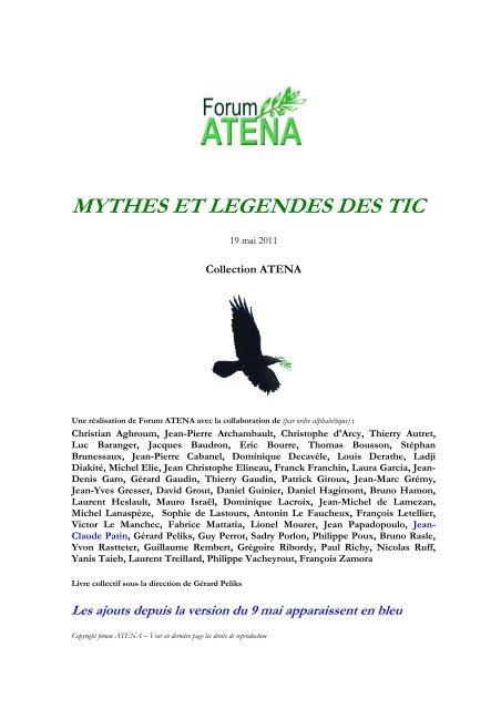 Mythes et légendes des TIC - Forum Atena