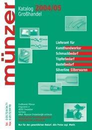 Inhaltsangabe - Kunsthandwerk Grosshandel Münzer ...