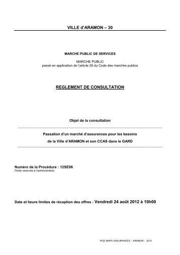 marches publics de fournitures courantes et services - Aramon.fr