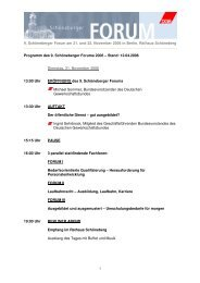 Schoeneberger-Forum 2006 - Landesbeamte