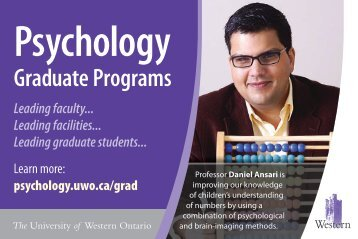 Graduate Programs - Psychology - University of Western Ontario