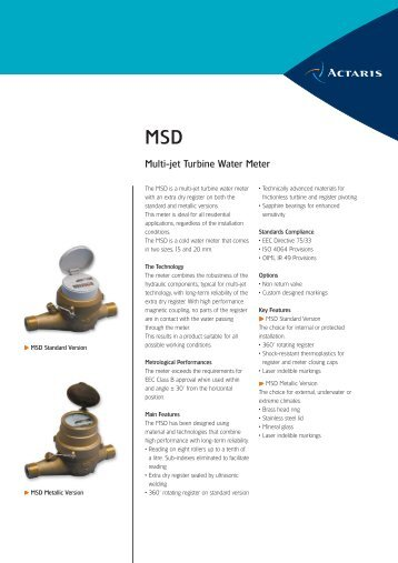 Multi-jet Turbine Water Meter - Itron