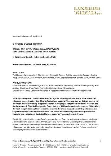 Medienmitteilung vom 21 - Luzerner Theater