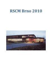 Hodnocení RSCM Brno za rok 2010 - SSK Slatina
