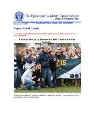 Upper School Update - Episcopal Academy