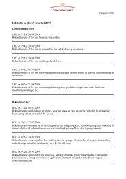 Udstedte regler 3. kvartal 2009 - Finanstilsynet